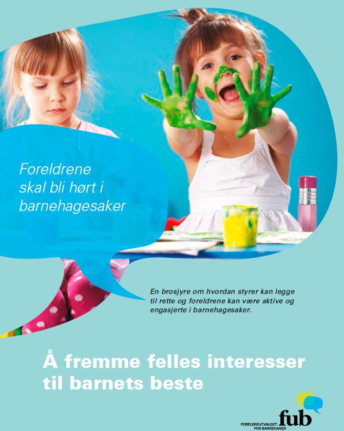 Brosjyren skal bidra til å styrke foreldrenes medvirkning i barnehagen.