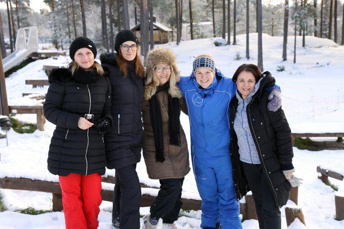 Fra venstre: Ana Pertet, Milana Jovicevic, Natasa Vrapclevic, Line-Cecilie Haugerud og Violeta Vrcelj Odri.