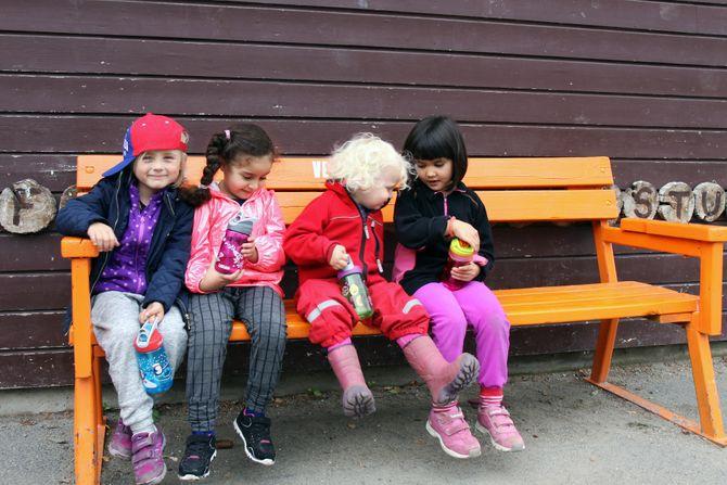 Barna i Rudshøgda Kanvas-naturbarnehage vet godt at plast og annet søppel ikke hører hjemme i naturen.