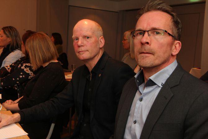 Leder Hans Lieng i Utdanningsforbundet i Sør-Trøndelag og leder Geir Røsvoll i Utdanningsforbundet i Trondheim. Under et møte i Trondheim før påske argumenterte de for en lovendring som hindrer at penger som er tiltenkt velferd havner i private lommer.