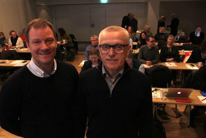 Bjørn-Kato Winther og Arild Olsen fra PBL var før påske i Trondheim for å møte politikere, fagbevegelse og barnehageansatte. Olsen avviser at PBL sprer uriktig informasjon om Fagforbundet og Utdanningsforbundet.
