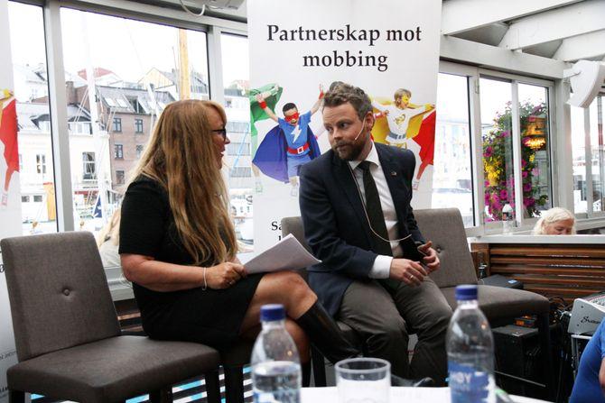 Kunnskapsminister Torbjørn Røe Isaksen i samtale med debattleder Eli Rygg.