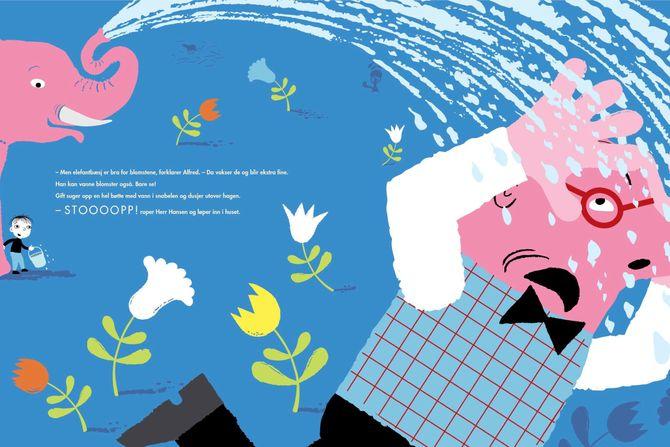 Boka er ment for barn mellom tre og seks år, og forfatter og illustratør Elisbeth Moseng tror den vil gjøre seg fint i en samlingsstund der man kan snakke om det å ta i mot det vi ikke kjenner så godt.