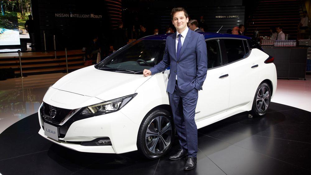 Gareth Dunsmore, direktør for elektriske kjøretøy i Nissan Europe.