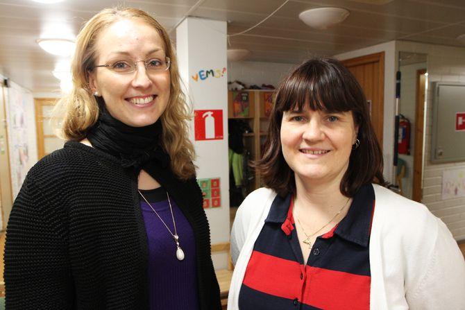 Styrer Linda Haglund i Elka barnehage Helsinki sammen med speialspedagog Johanne Karlson.