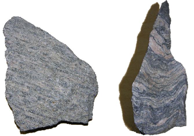 Eksempler på stripete steiner.