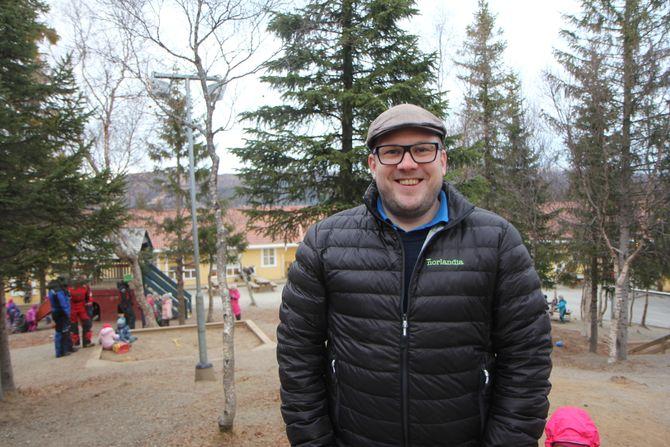 Pedagogisk leder Andreas Langfjell i Bjørneborgen Norlandia barnehage i Bodø.