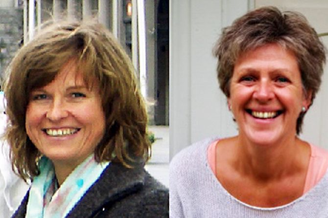 Adjunkt Line Langaard Solberg og adjunkt Bente Christensen Strand i Faggruppen for særlig sensitive barn.
