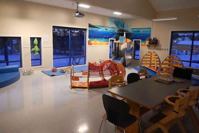 I dette rommet er det åpen barnehage to dager i uka.