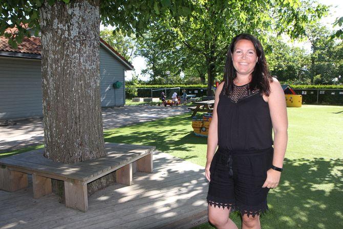 Daglig leder i Melløsparken barnehage SA i Moss, Thea Gustavsen skal evaluere det nye tilvenningsopplegget til høsten, men synes det fungerer veldig godt for alle parter så langt.