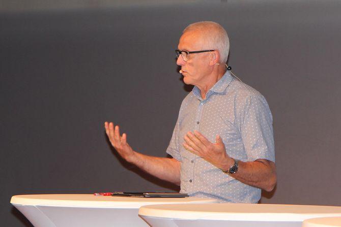 Arild Olsen, administrerende direktør for PBL under debatten på Arendalsuka.