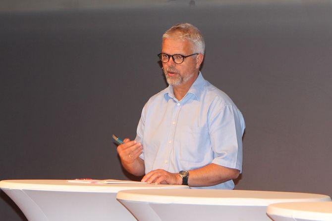 Avdelingsdirektør i KS, Erling Lien Barlindhaug på barnehagedebatten under Arendalsuka.