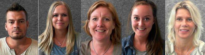 Espen Halvorsen, Linn Anita Jessen, Sarah Johansen, Sonja Bogsveen og Miriam Lund- Lindokken. 2. års barnehagelærerstudenter ved Høgskolen i Østfold.