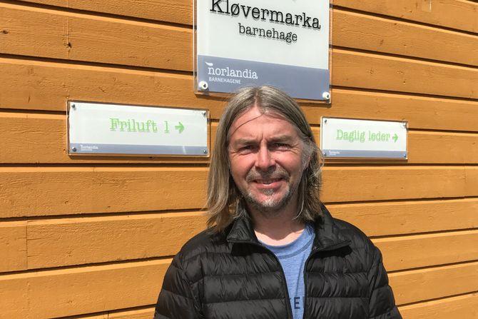 Morten R. Horn, daglig leder i Norlandia Kløvermarka barnehage.
