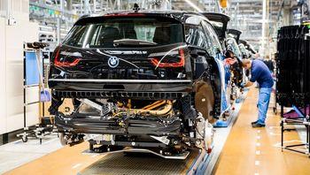 Fra produksjon av BMW I3.