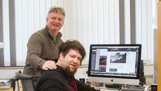 Tom Skare og Sten Egil Røvik lanserer nettavis på Hitra denne uken - sammen med Tore Strømøy.
