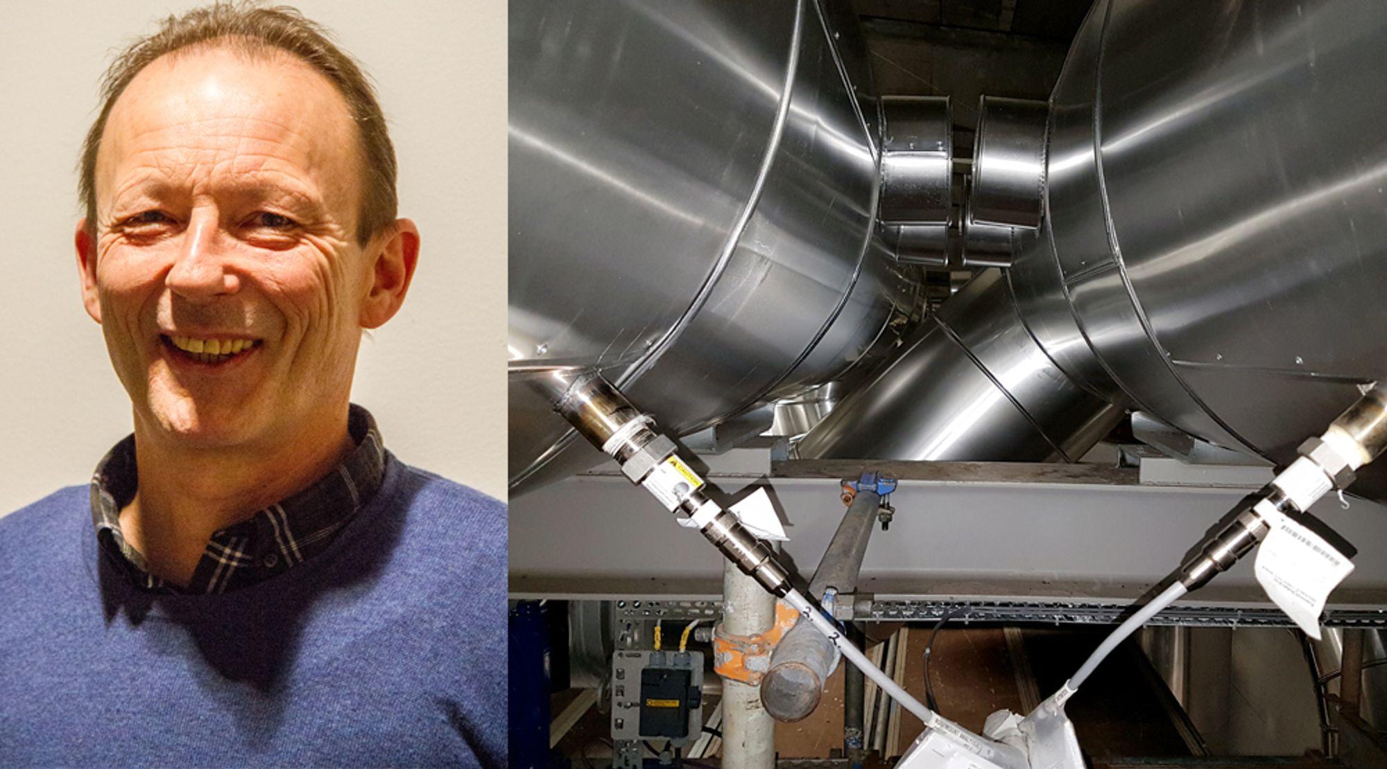 Oppfinner: Anders Meeg har brukt opp mot 20.000 timer med rådata, regneark og matematikk for å utviklet et system som i sanntid kan måle ammoniakklekkasjer. – Jeg har møtt stor forståelse hos min arbeidsgiver Norsk Energi, sier han.