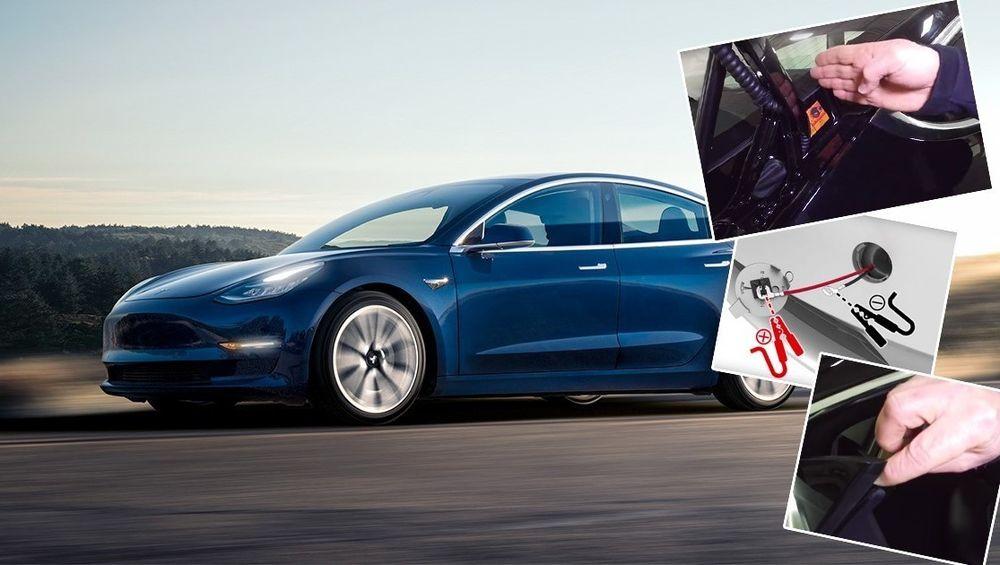 """Teslas """"folkebil"""" Tesla Model 3."""