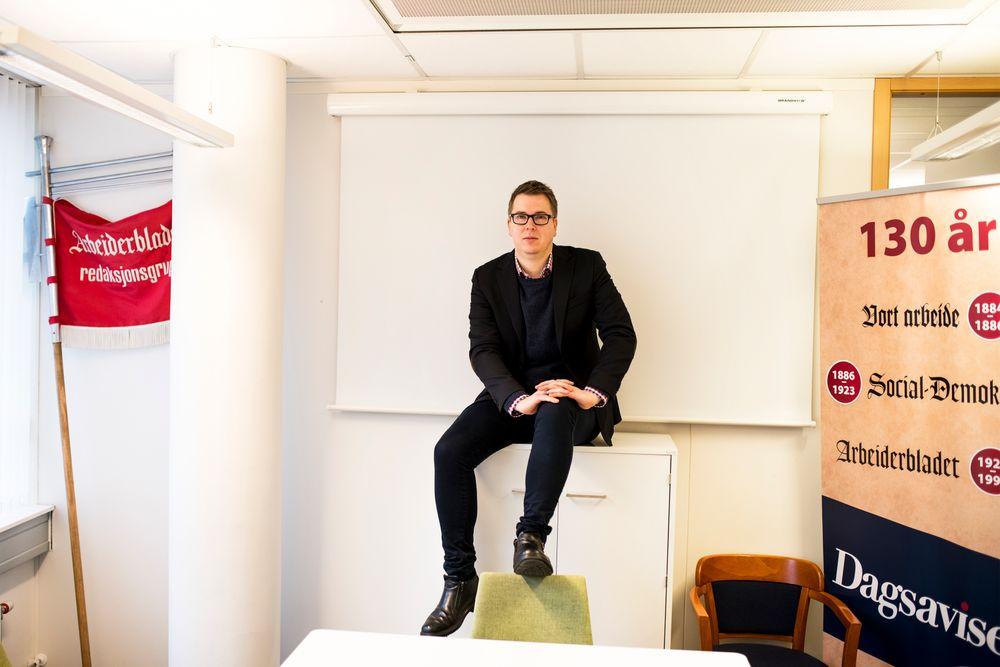 Sjefredaktør og administrerende direktør Eirik Hoff Lysholm i Dagsavisen.