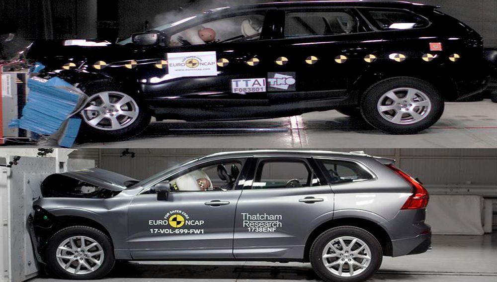 Selv om 2009-modellen og 2017-modellen til Volvo ser nokså lik ut utenpå, har det skjedd mye med både vekt og kompatibilitet som gjør den nyeste modellen mer trafikksikker enn den gamle.