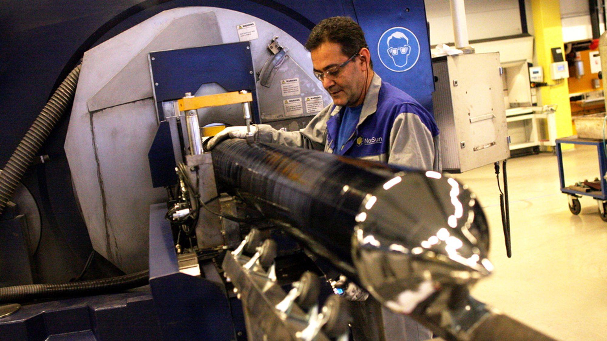 Solcelleprodusenten Norsun planlegger å tidoble produksjonen de neste årene. Arkivbilde.