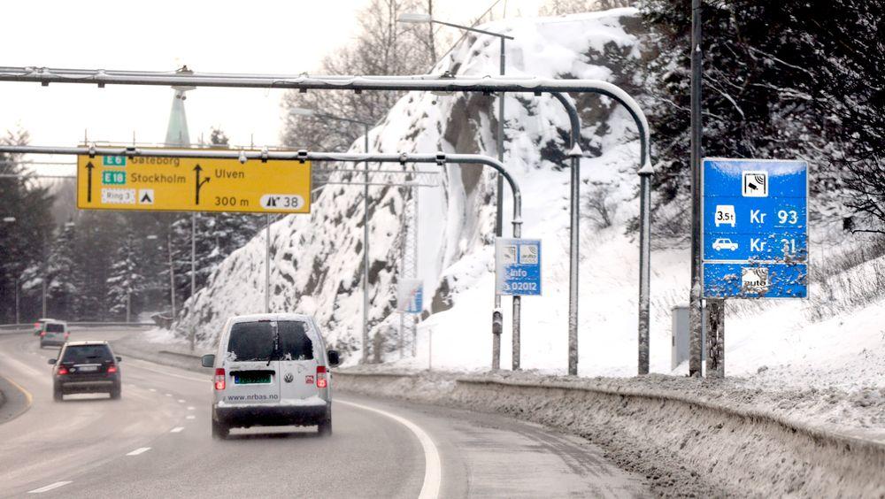 De neste fem årene skal det bygges nye veier for om lag 135 milliarder kroner. Illustrasjonsbilde fra Ulven i Oslo.