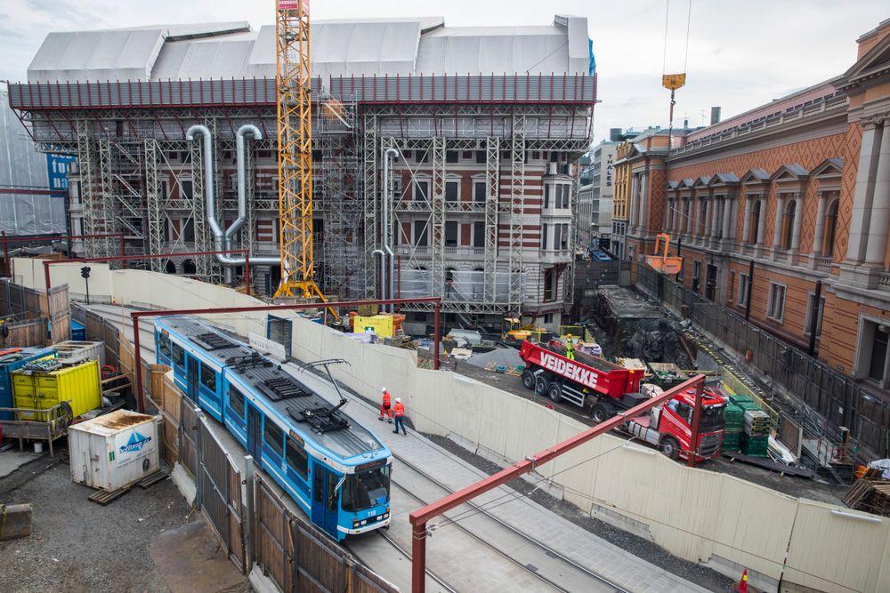 Stortingets byggeprosjekt førte til at stortingsdirektør Ida Børresen gikk av på dagen torsdag etter at presidentskapet hadde blitt informert om en ny kostnadssprekk. Bildet er fra juni 2017.
