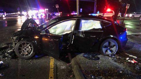 Tesla Model 3-ulykke: – I en annen bil ville jeg vært død