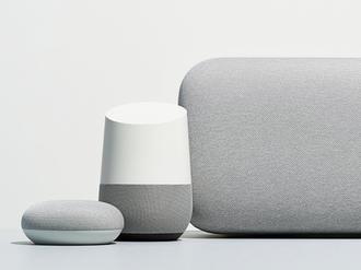 De tre første Google Home-produktene.