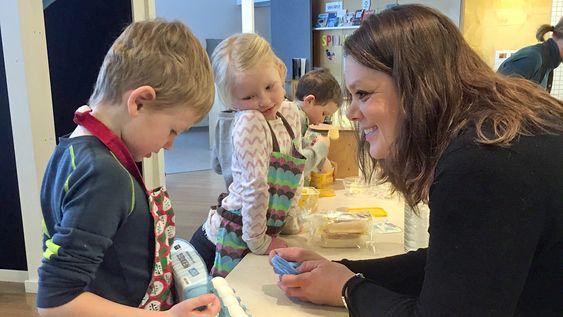 Pia Katarina Halvorsen, daglig leder i Den blå appelsin Kanvas-barnehage.