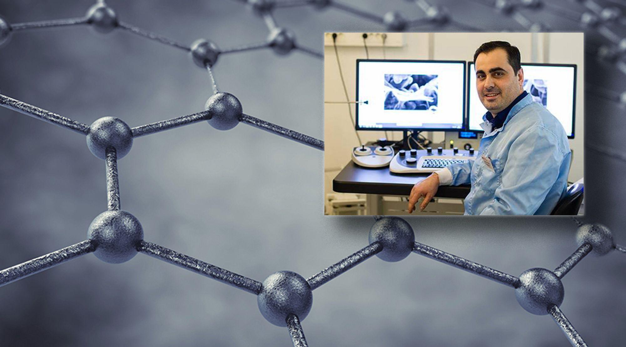 Uppsala-forskeren Mamoun Taher har tatt fram hybrid-materialet Aros-graphene.