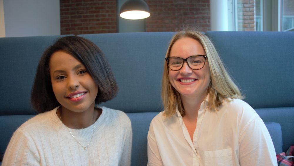Muna Hassan og Kristine Halvorsen tar master i geologi ved Universitetet i Oslo. De er ferdige til våren, og starter jobbsøkeprosessen. Tekna spår at studentene innenfor blant annet disse områdene vil bli meget etterspurte igjen om få år.
