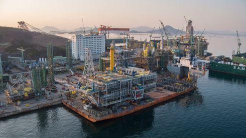 Ikke bare i OL det settes rekorder i Korea: Sverdrup-plattform er ferdig på under 20 måneder