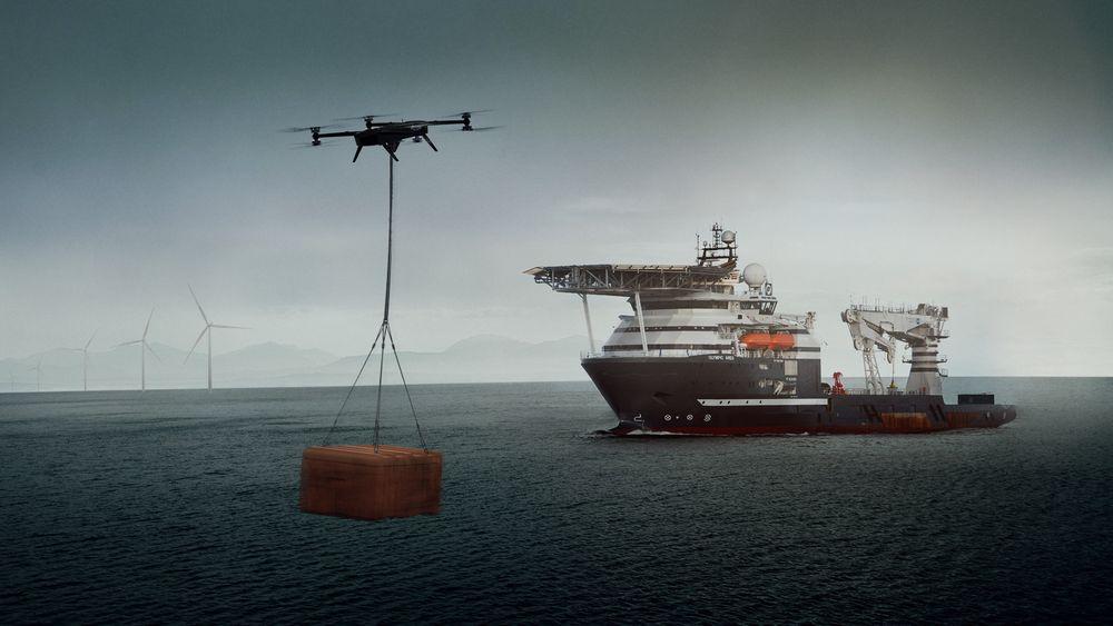Droneløft mellom skip og installasjon kan gi sikrere operasjoner, utvide værvinduet og effektivisere overførign av mindre mengder gods og forbruksartikler.
