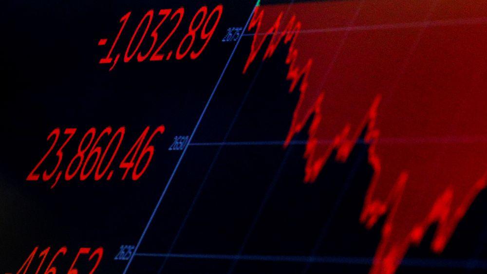 Dow Jones Industrial Average i begynnelsen av februar. Utlånsdirektør Fornybar energi i Eksportkreditt, Ivar Slengesol, tror nye investeringer i fornybar energi påvirkes av en mulig renteøkning.