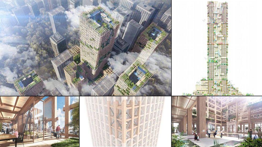 Sumitomo Forestry vil bygge en 250 meter høy skyskraper i tre, med hele 70 etasjer, i Tokyo. Den skal etter planen stå ferdig til selskapets 350-årsjubileum i 2041.