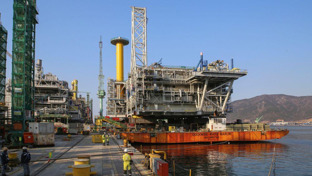 Oljeinvesteringene er ventet å øke i 2018, det er første gang på tre år. Bildet viser prosessplattformen til Johan Sverdrup-utbyggingen, som det til sammen investeres 88 milliarder kroner i.