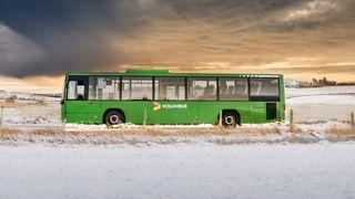 Buss fra Kolumbus. Foto