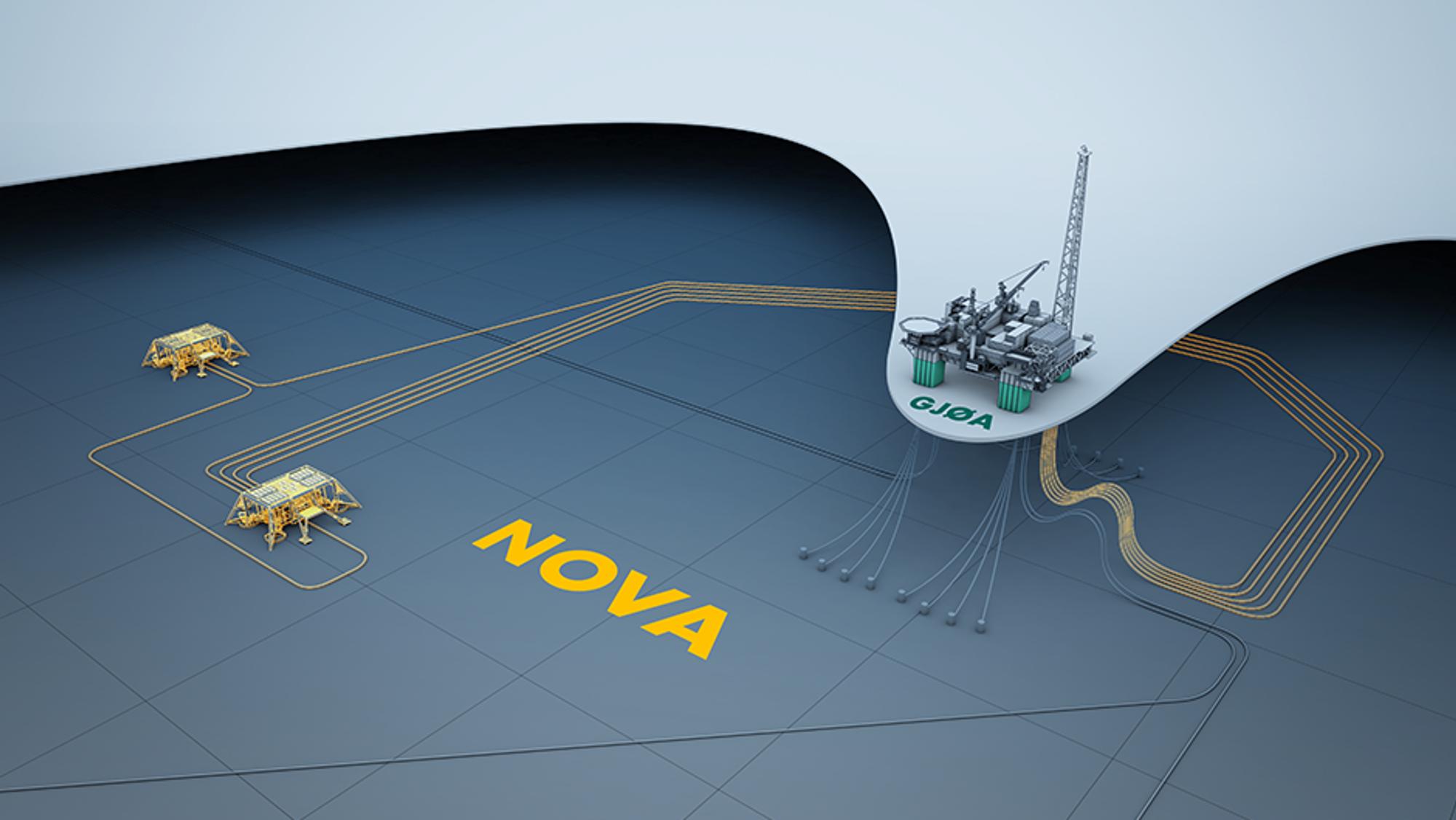 Nova bygges ut med to havbunnsrammer, tilknyttet Gjøa-plattformen i Nordsjøen.