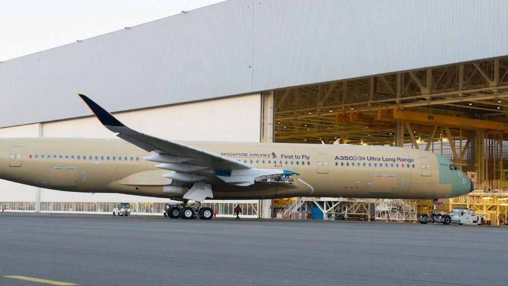 Den første ULR-versjonen av A350 skal nå testes utendørs en periode fram til det påmonteres motorer og skal fly. Det skal settes i drift senere i 2018.