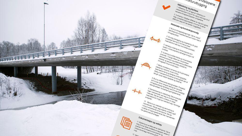 Med disse tiltakene skal Statens vegvesen kunne redusere utslippet av klimagasser fra bygging av infrastruktur med 40 prosent innen 2030.