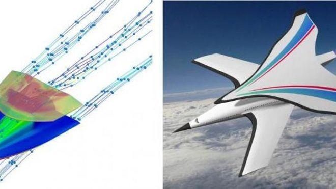 Tester hypersonisk flydesign med to par vinger