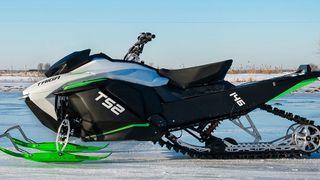Den kommende elektriske snøskuteren Taiga TS2.