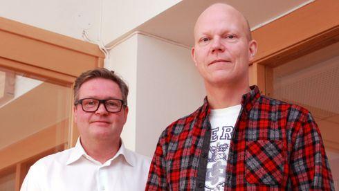 Arnfinn Strand og  Jørn Nygaard hos Check Point fortalte om selskapets Infinity Total Protection-løsning.