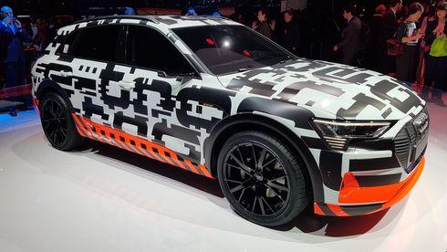 Prorotypen av Audi e-Tron Quattro ble offisielt presentert i Geneve.