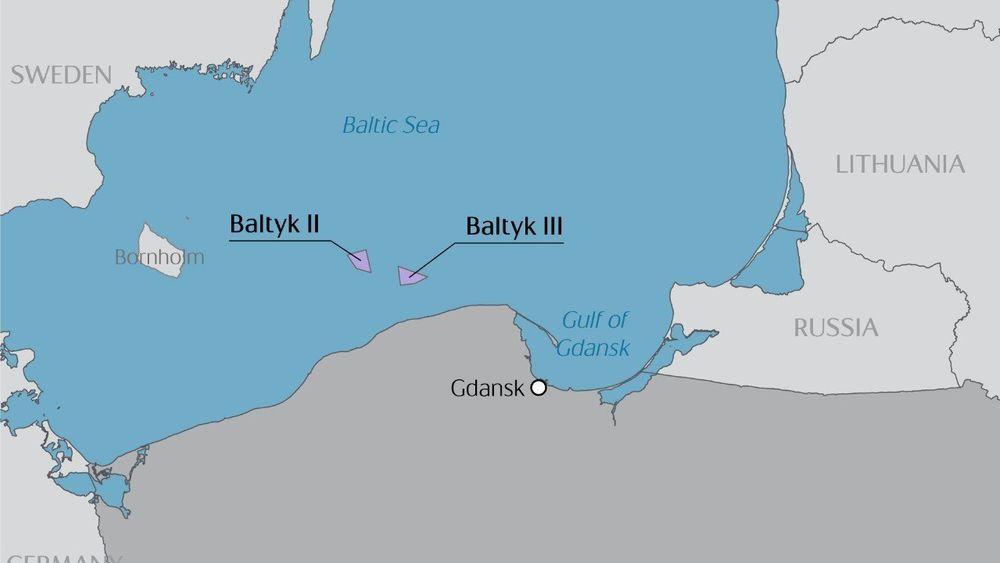 De to utviklingsprosjektene ligger henholdsvis 27 og 40 kilometer fra den polske havnebyen Leba.
