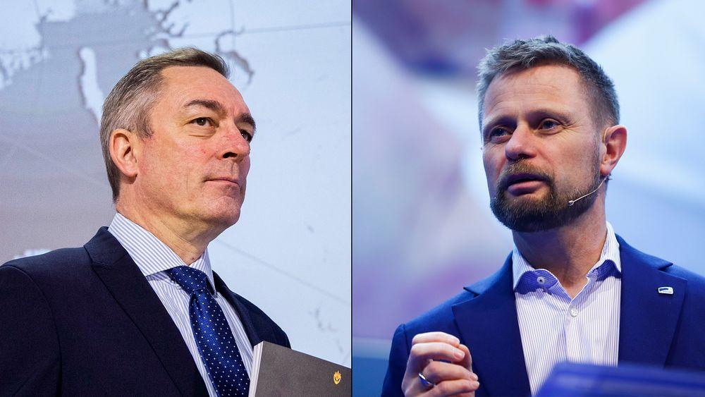 NITO-president Trond Markussen og Ap-representant Eirik Sivertsen er overrasket over signaler fra forsvarsminister Frank Bakke-Jensen (venstre) og helseminister Bent Høie (høyre) om at faglige råd fra fagorganisasjoner ikke kommer fra fagmiljøer.