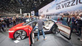 Volkswagen ID Vizzion vist frem i Geneve i 2018.