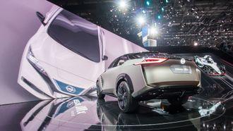 Fra Nissans utstilling på bilmessen i Genève.