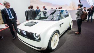 Honda Urban EV Concept, vist under bilmessen i Genève.